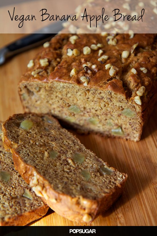 Vegan Banana Apple Chunk Bread: perfect for a healthy breakfast, but delish enough to devour as an after-dinner treat.