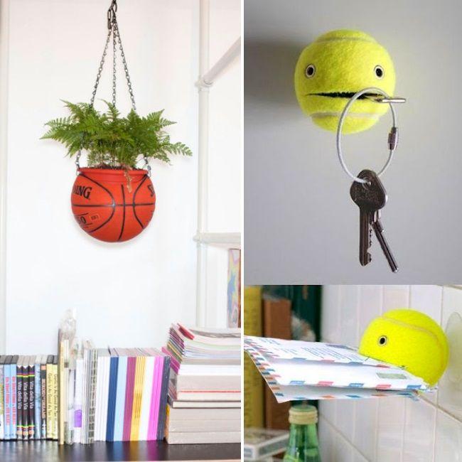 Idées DIY pour recycler ballon de basket ou balle de tennis