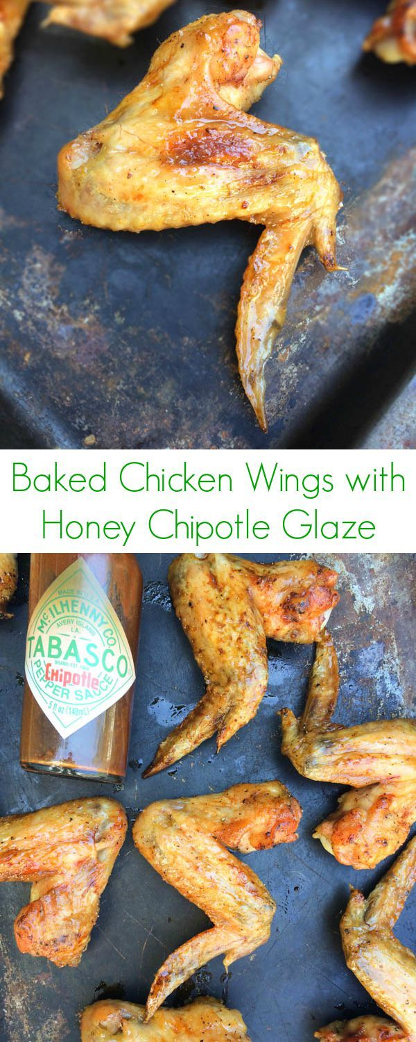 Baked Chicken Wings with Honey Chipotle Glaze - The Lemon Bowl