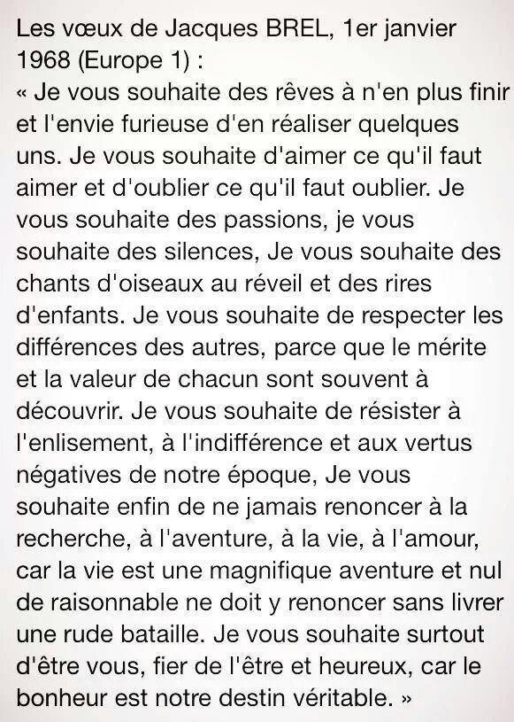 Les voeux de Jacques Brel (1968)                                                                                                                                                                                 Plus