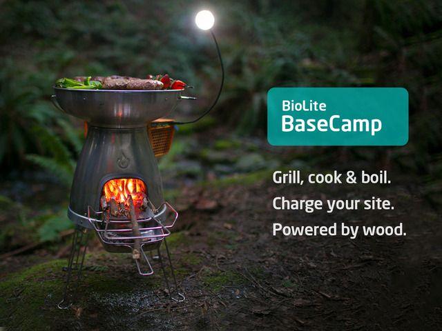 BioLite BaseCamp Stove | Turn Fire into Electricity by BioLite — Kickstarter