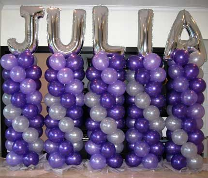 Balloon+Columns | BALLOON COLUMNS : Weston Events, Luxury Party Rentals