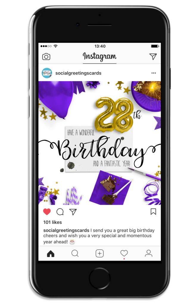 8 best 28th birthday social greetings cards images on pinterest 28th birthday card purple social greetings cards bookmarktalkfo Gallery