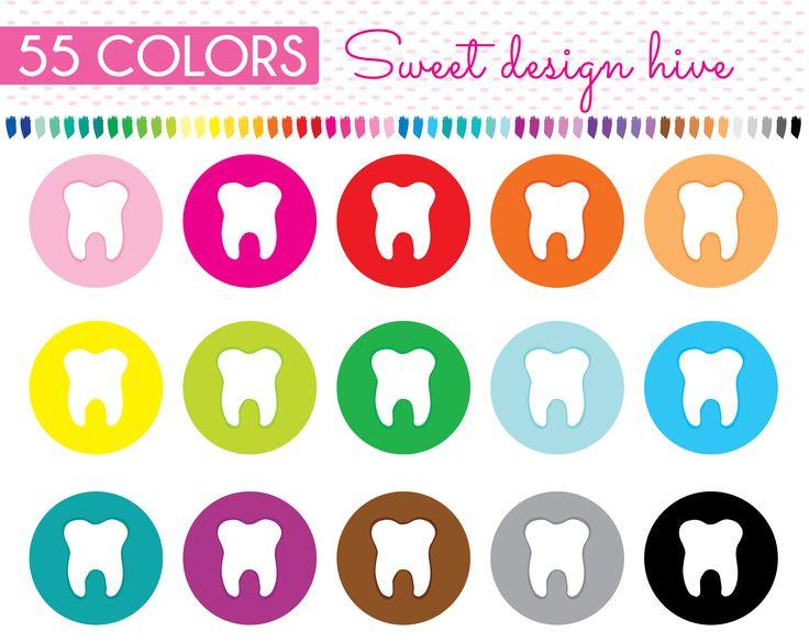 Teeth clipart, Tooth, reminder teeth, dentist reminder, tooth reminder, Rainbow, Planner Stickers, dentist reminder, PL0113 by Sweetdesignhive on Etsy