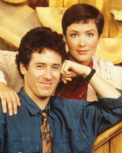 "Rob Morrow (Joel Fleischman) and Janine Turner (Maggie O'Connell) in ""Northern Exposure"" (TV Series)"