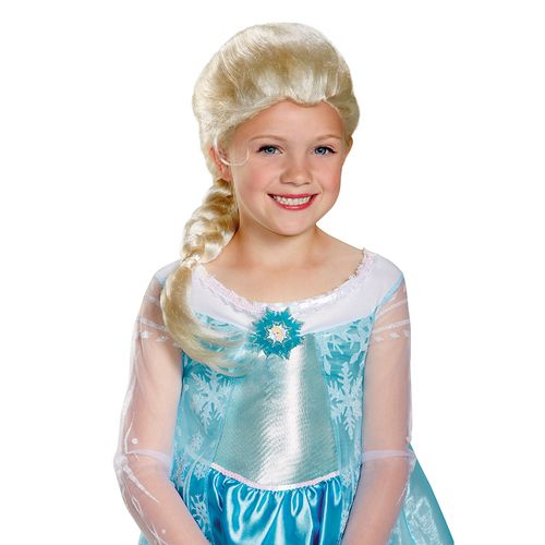 "Frozen's Elsa Child Wig - Complete your child's Snow Queen costume with our genuine licenced Disney Frozen Elsa Child Wig! This pint-sized headpiece features a long, lush icy-blonde braid that can be worn on either shoulder, while the comfortable, secure cap keeps everything in place - even while your little Elsa is singing ""Let It Go""....again.... #princess #elsa #wig #yyc #kids #costume"