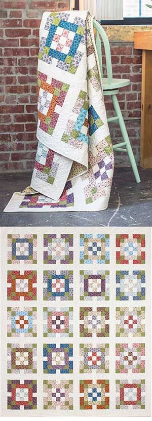 NINE PATCH GARDEN QUILT KIT