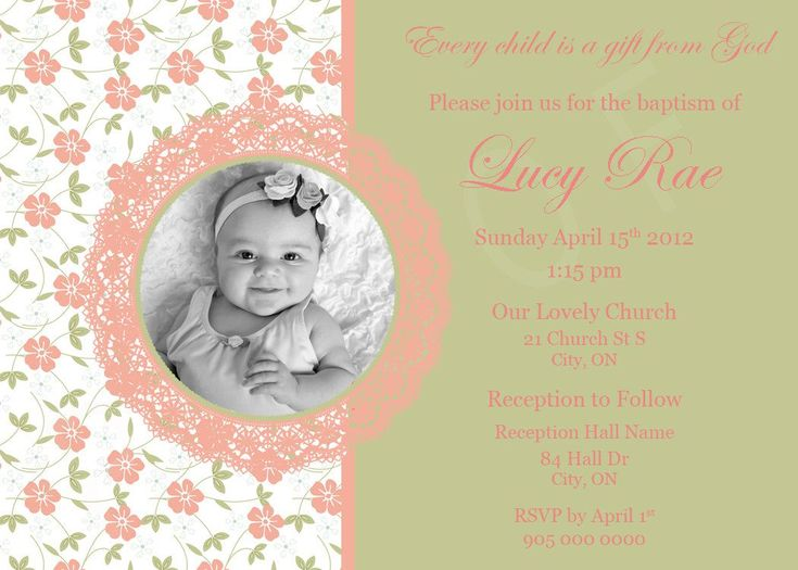 354 best baptism invitations images – First Birthday and Baptism Invitations
