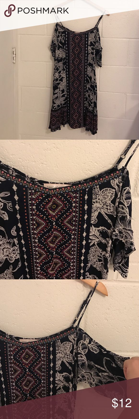 Cold shoulder dress Super cute off shoulder adjustable strap boho style dress. Band of Gypsies Dresses Mini