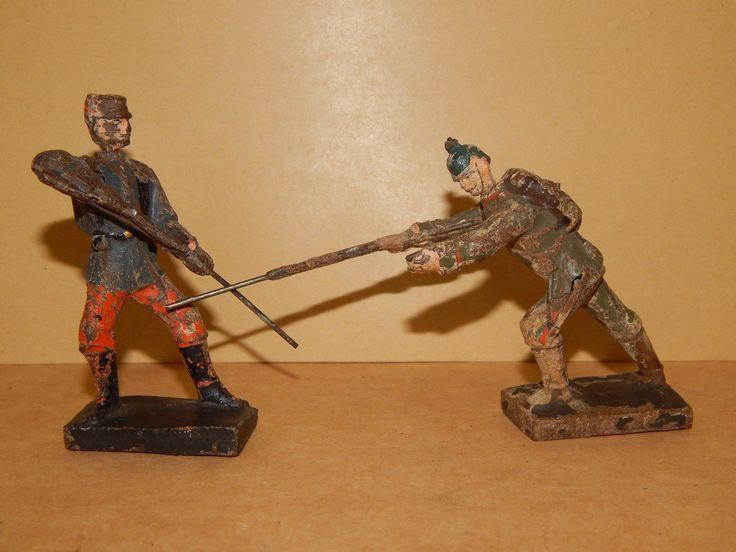 Antike Soldaten um 1916 8.5 cm Lineol Seltene Darstellungen WK 1 WW 1 | eBay