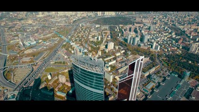 Панорамная съемка делового комплекса «Москва-Сити».  High Level  hlphotoagency.com