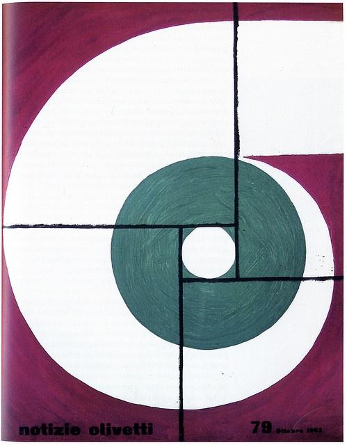 Notizie Olivetti Magazines No.78 October, 1963, Designed by Giovanni Pintori, 1963