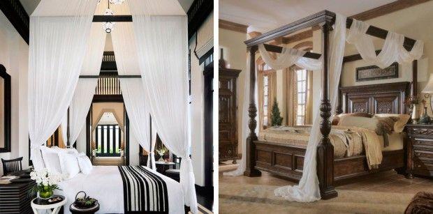 Łóżko z baldachimem nie tylko dla księżniczki #sypialnia #baldachim #lozko #bedroom