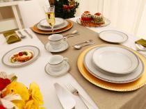 Aparelho de Jantar Chá Café 42 Peças Casambiente - Porcelana Redondo Royal