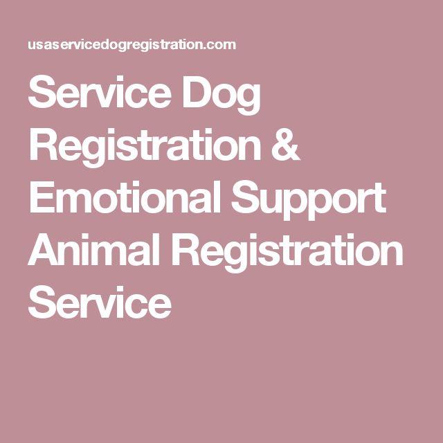 Service Dog Registration & Emotional Support Animal Registration Service