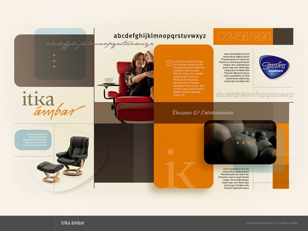 Mapa Visual Itika Ámbar by RiveraCarlos Disegno, via Behance