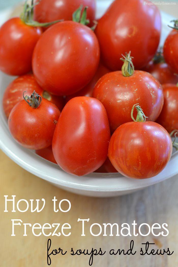 Best 25 Freeze Tomatoes Ideas On Pinterest Freezing Tomatoes Easy Recipe For Freezing