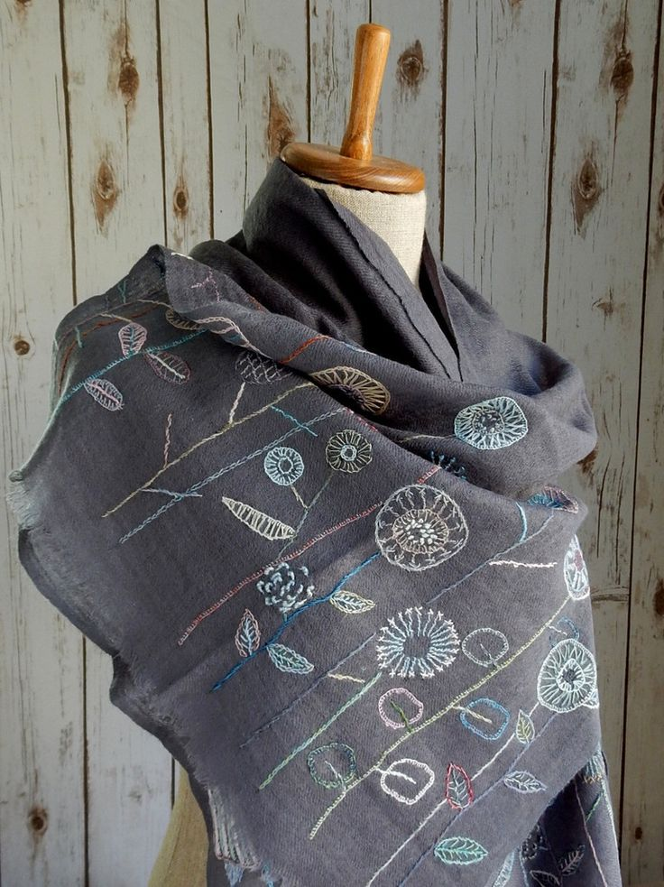 """Les Simples"" Scarf - grey 