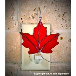 SWITCHABLES SW 143 RED MAPLE LEAF Stained Glass Night Light Cover