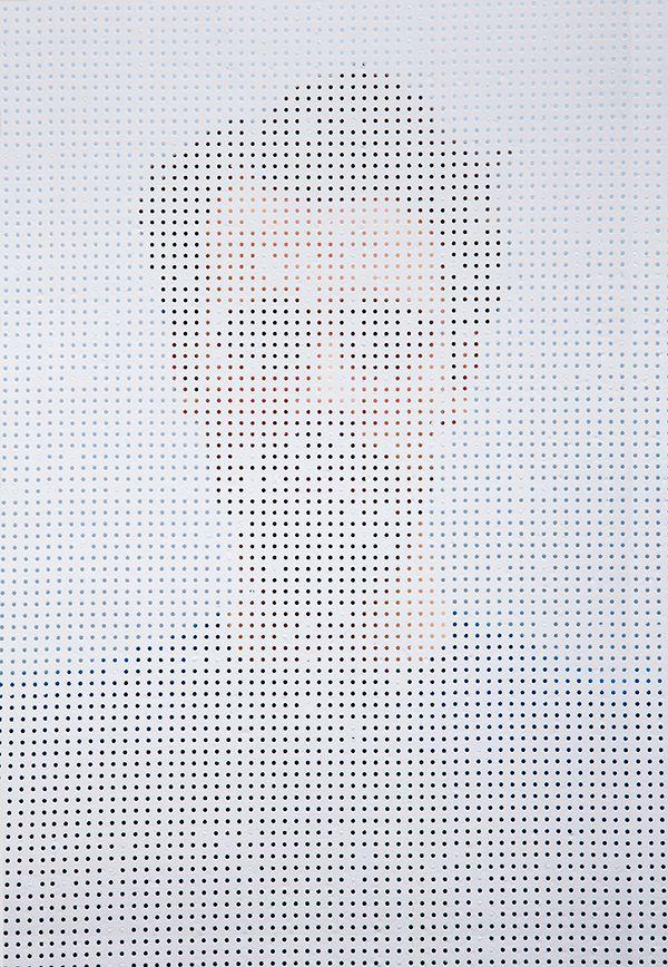 Intriguing Photographs Of People Shot Through Perforated Screens - DesignTAXI.com