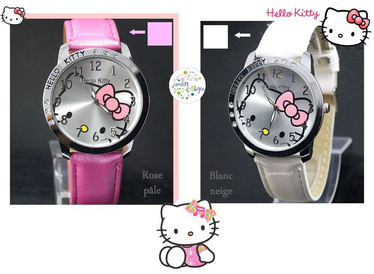MONTRE ANALOGIQUE HELLO KITTY TETE INCRUSTEE FILLE-ADO-FEMME HELLO KITTY WATCH