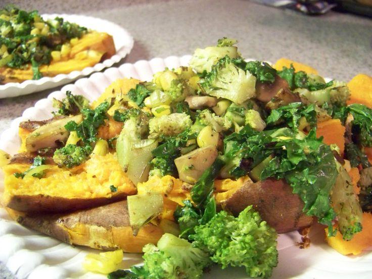 loaded baked sweet potatoes | Thanksgiving | Pinterest