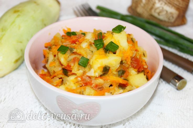 Овощное рагу из кабачков и картофеля #рагу #овощи #картофель #рецепты #деловкуса #готовимсделовкуса