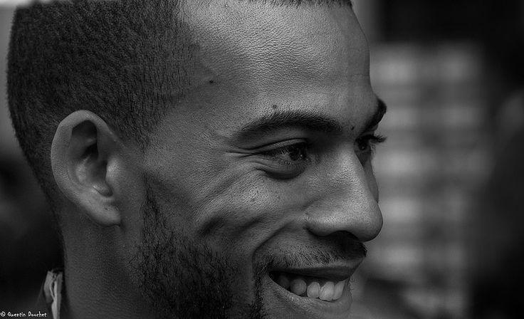 Benjamin Compaoré, médaille d'or au triple saut. #Zurich2014 #man #homme #sportsman #sportsperson #sportif #athletisme #athletics #FFA #France #noiretblanc #blackandwhite