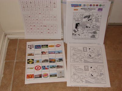 Road trip fun for kids. Make/print theses activities and games to make long car trips less stressful.