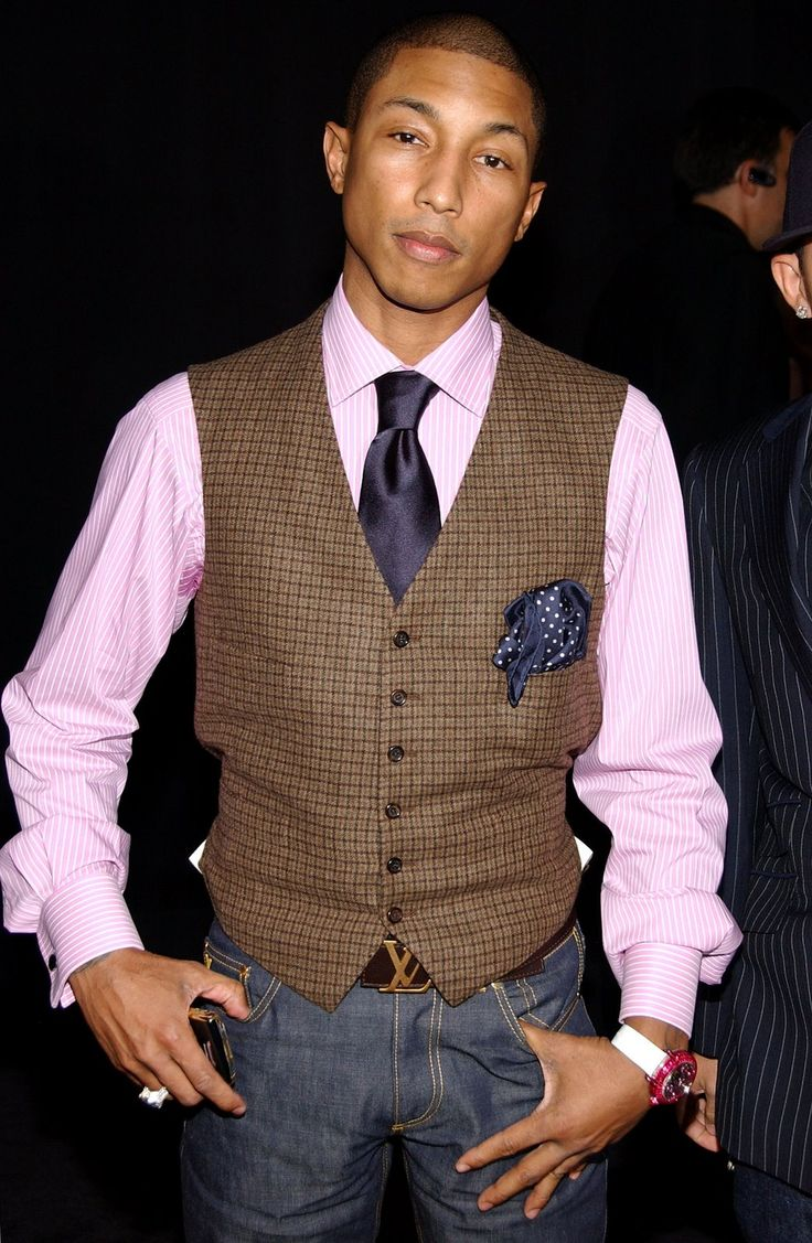 Pharrell is a bad dresser! Damn! Thank you for helping break those boundaries. Black guys need to have fun with fashion. That's what its all about...and age is just a number!