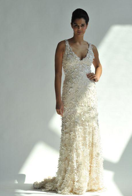 Brides.com: . Junko Yoshioka. Laguna, $8,910, Junko Yoshioka  See more Junko Yoshioka wedding dresses