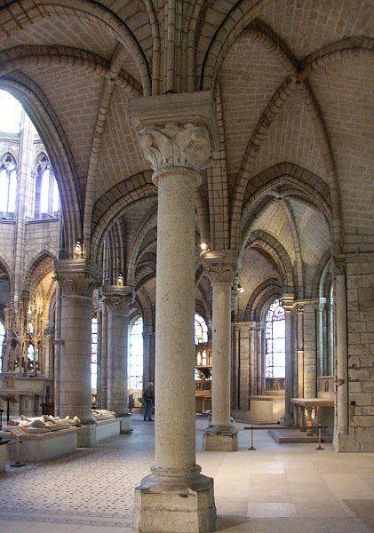 St. Denis, Paris France - Ambulatory (ribbed vaults)