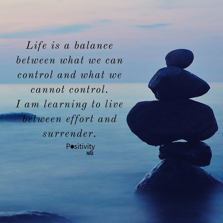 Life is a balance between what we can control and what we cannot control. I am learning to live between effort and surrender. #positivitynote #positivity #inspiration