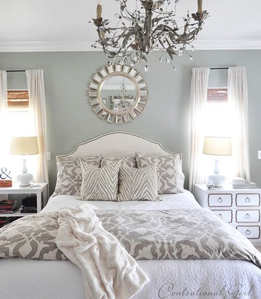 Grey Bedrooms For Girls Bedroom Decor With Mirrors Bedroom Paint Color Ideas With Accent Wall Bedroom Colors Blue Gray: I Love CG. Her Style Is Similar To Mine, But She Pulls