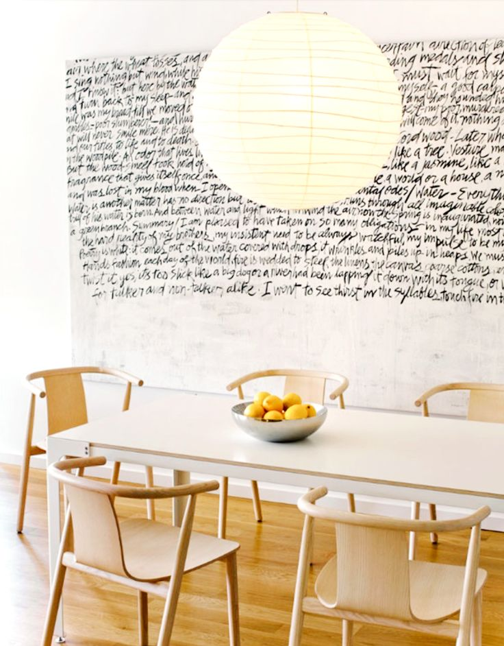 Amazing White Walls, Hardwood Floors, Wooden Chairs, White And Beige Table, Circular  White