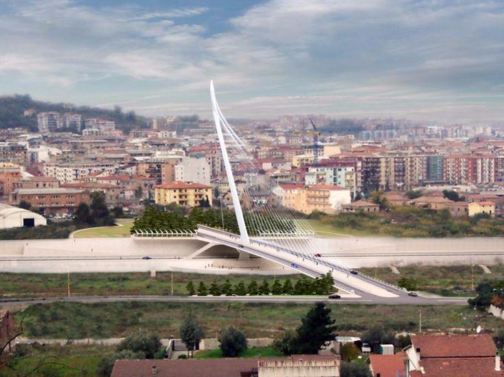 17/02/2016 -Situato nella zona sud-est della città, sul fiume Crati, il nuovo ponte strallato di Cosenza,dalla firma pretigiosa di&