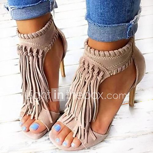 Women's Sandals Spring Summer Fall Leatherette Casual Party & Evening Stiletto Heel Tassel Black Almond - AUD $61.48 ! HOT Product! A hot product at an incredible low price is now on sale! Come check it out along with other items like this. Get great discounts, earn Rewards and much more each time you shop with us!
