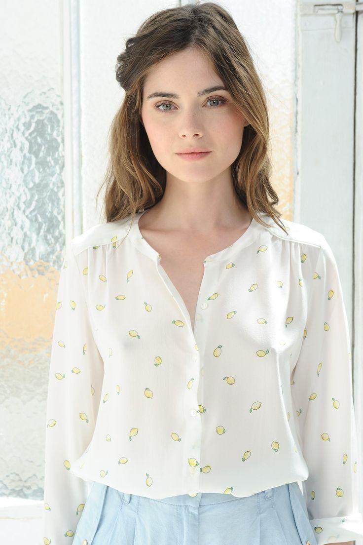 Blouse joala citrons - blouse - des petits hauts 1