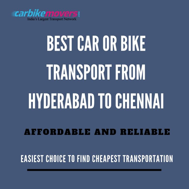 Can You Really Find The Best Car Or Bike Transport From Hyderabad