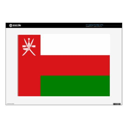 """#Low Cost! Oman Flag 15"""" Laptop Decals - #travel #electronics"""