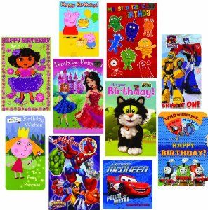 Do you have children's birthday parties coming up?  If so these could be handy!10 Cards featuring Peppa Pig, Transformers, Spiderman & Thomas the Tank Engine! £9.89 from Amazon