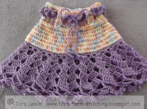 Formulario libre Costura: Patrón gratuito - Crochet Ra Ra Falda - 1 a 3 años