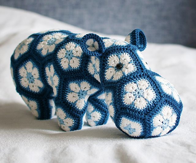 Ravelry: Project Gallery for Happypotamus The Happy Hippo Crochet Pattern pattern by Heidi Bears