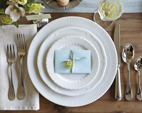 Eclectique Dinnerware Place Setting, White | Williams-Sonoma