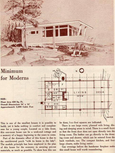 205 best Retro House Plans & Designs images on Pinterest | Floor ...