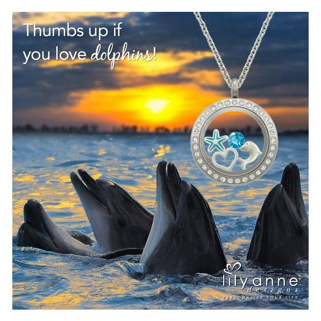 {Thumbs up if you love dolphins!} www.lilyannedesigns.com.au #LilyAnneDesigns #PersonalisedLockets