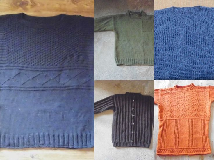 Stunning knitwear in natural fibres for gents. Do-it-yourself - knitting patterns from domoras