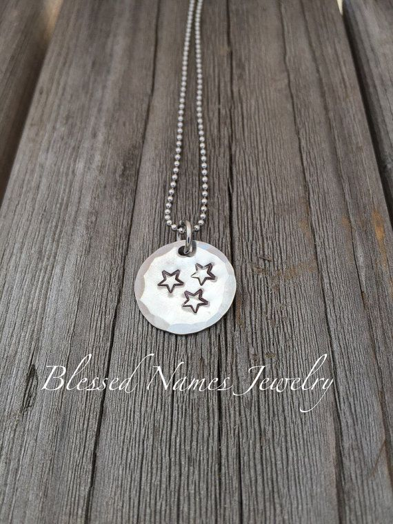 Hand Stamped Stainless Steel Tennessee flag by BlessedNamesJewelry