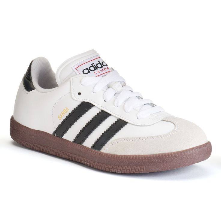 Adidas Samba Classic Boys' Indoor Soccer Shoes, Size: 4, White