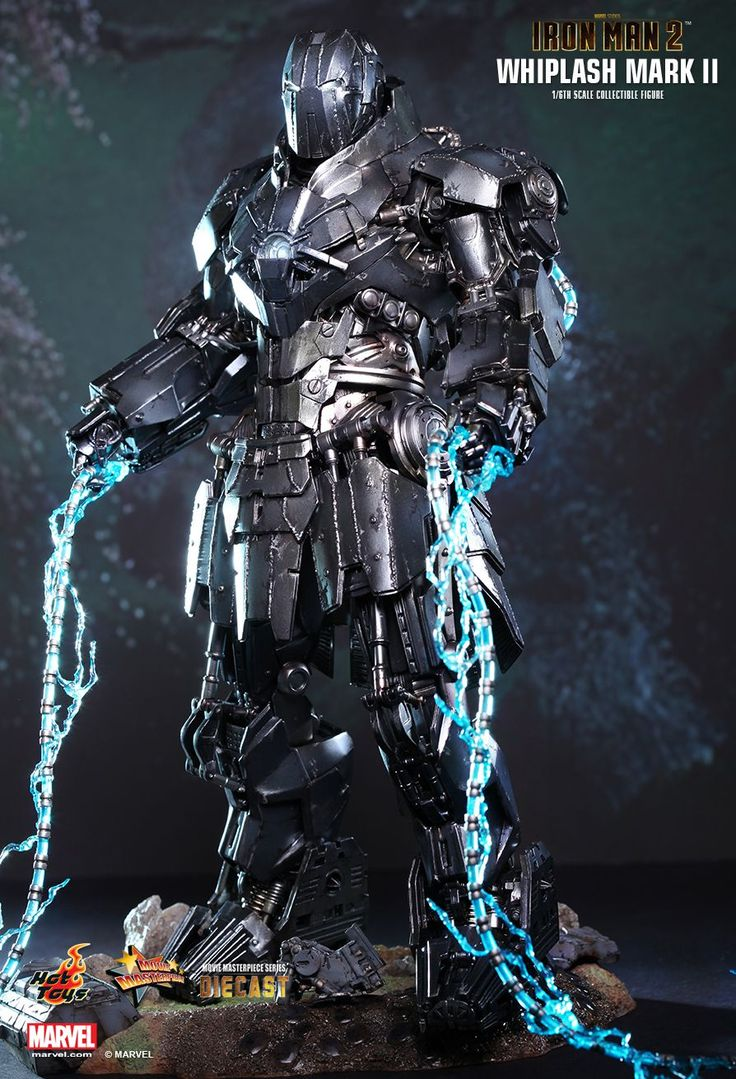 The Whiplash Armor Mark II is the second armor created by Ivan Vanko as part of his plan of revenge against Tony Stark. The armor was created with Justin Hammer's Hammer Technology to counter Tony's Iron Man Armor. It is the perfected version of Vanko's Whiplash Armor, and appears in Iron Man 2.